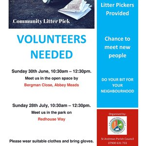 Community Litter Pick June and July 2019