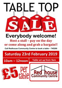 Table Top Sale February 2019